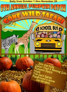 8th Annual Gone Wild Safari Pumpkin Patch @ 8th Annual Pumpkin Patch | Pineville | Louisiana | United States
